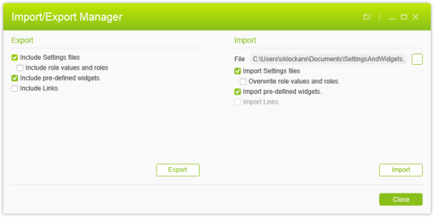 Import_Export Manager