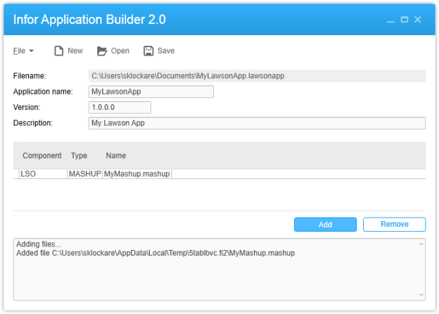 Infor Application Builder