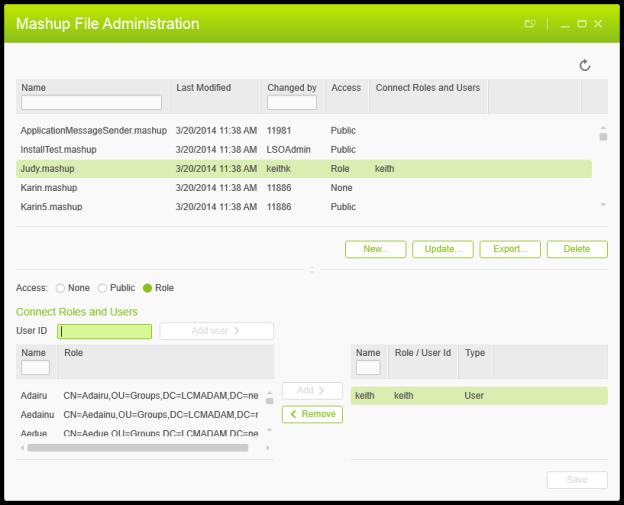Mashup File Administration