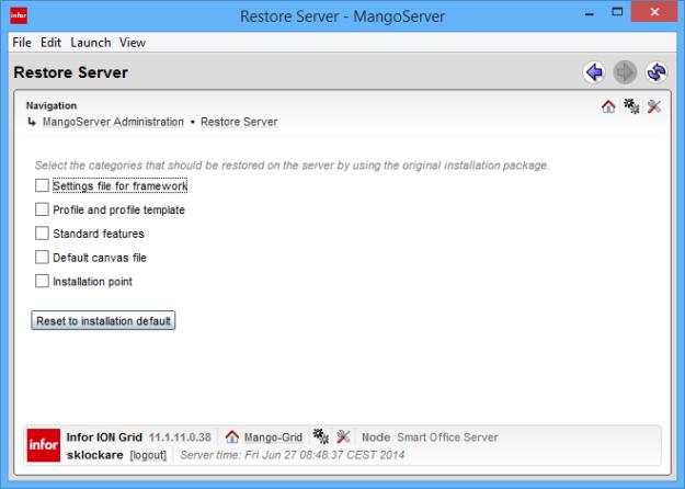 Restore Server