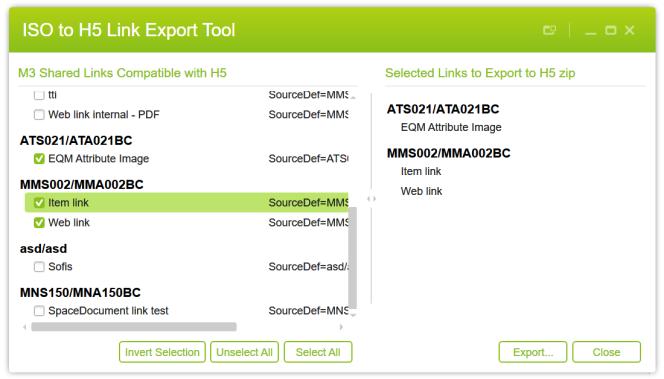 ISOLinkExport2H5